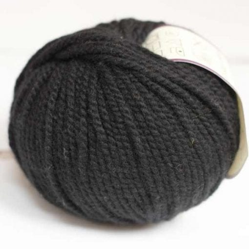 Altopiano Nero pure cashmere aran weight yarn