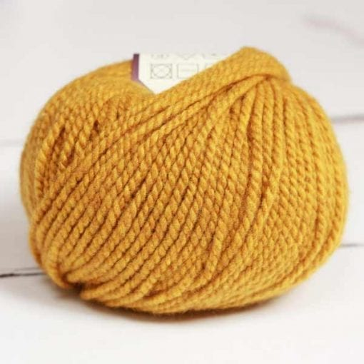 Altopiano Mustard pure cashmere aran weight yarn