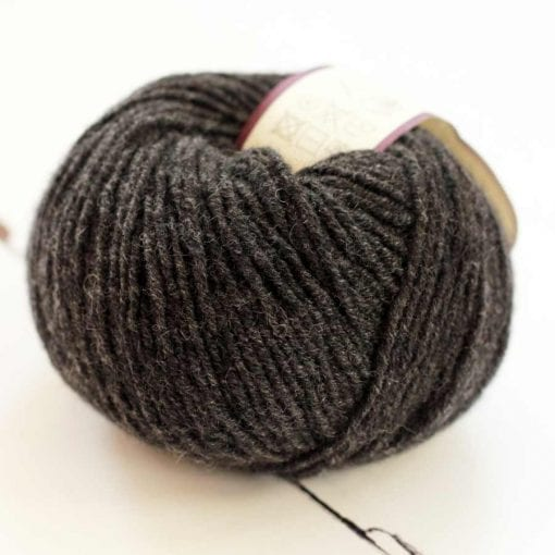 Di Lusso Coal pure cashmere sport weight yarn