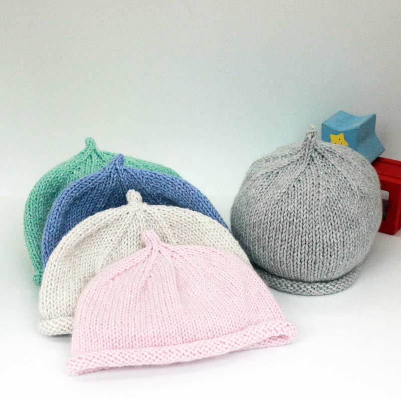 BabyBell pure cashmere baby beanie hat knit kit 773d4a68c16
