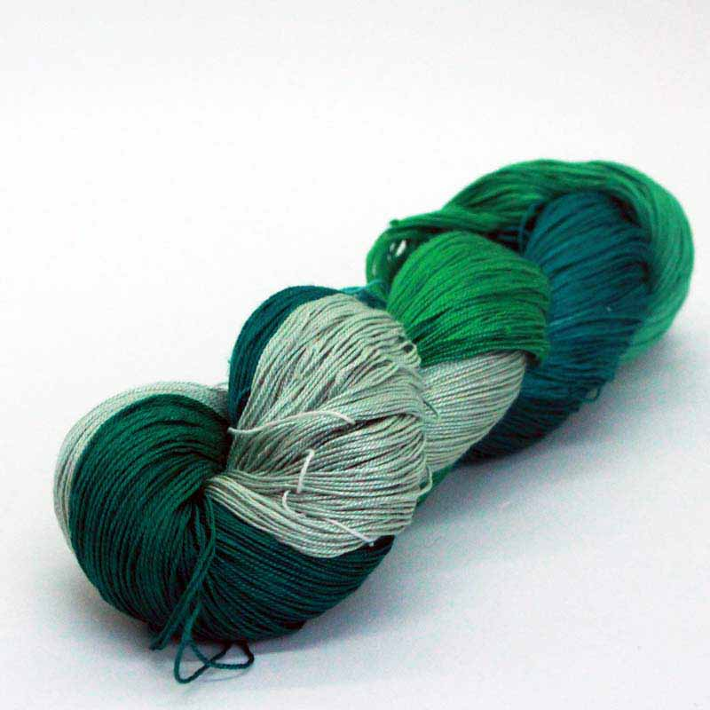 Queen Silk Lace Evergreen 15 pure silk lace weight yarn