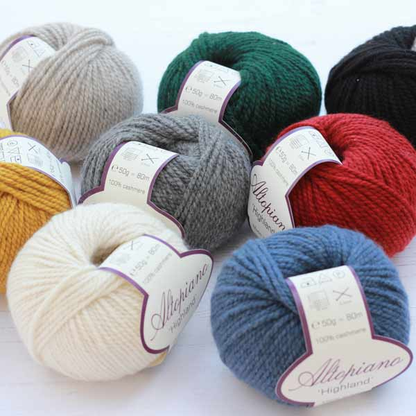 pure cashmere aran weight yarn