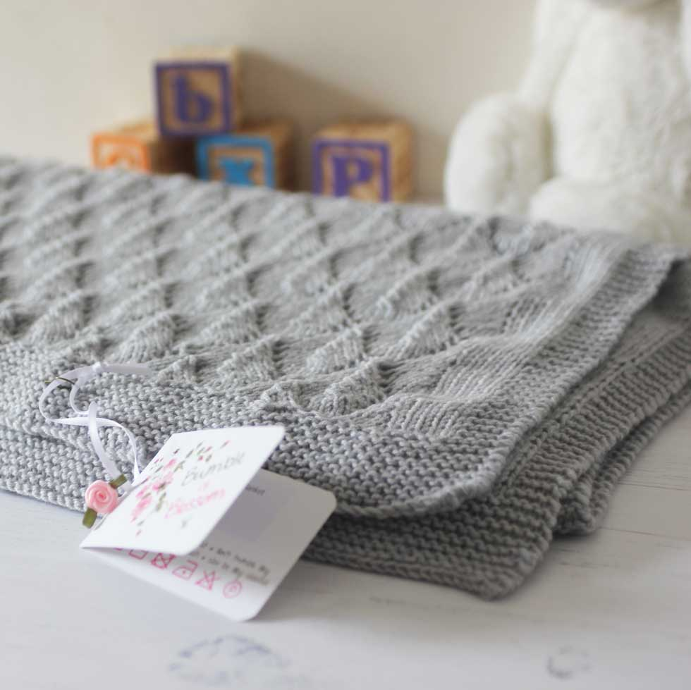 029c83a29 Lace Leaves Baby Blanket Knit Kit