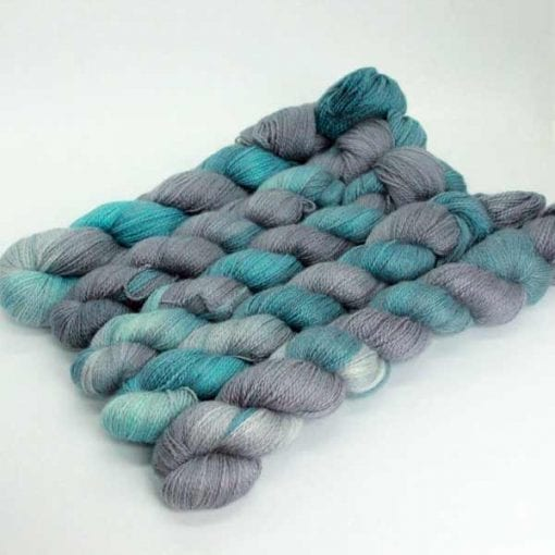 Angelo Lace hand-dyed 2 ply lace Almost Midnight