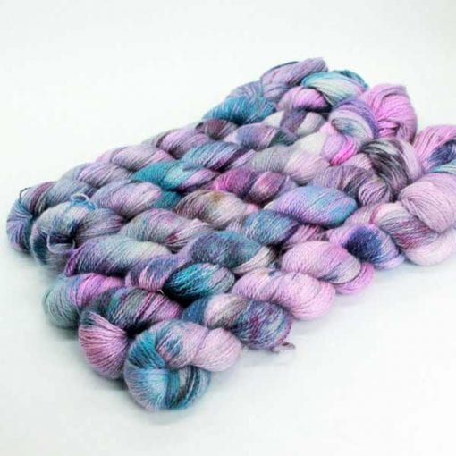 Angelo Lace hand-dyed 2 ply lace Nebula