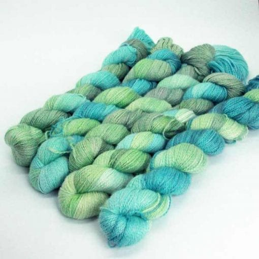 Angelo Lace hand-dyed 2 ply lace Wetlands