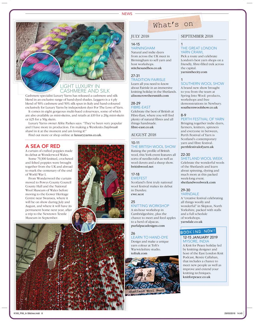 Knitting Magazine Leggero News