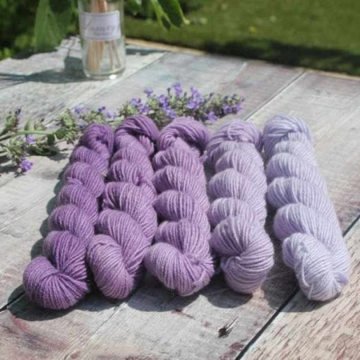 lilacs_shfades di lusso cashmere in 5 shades of lilac