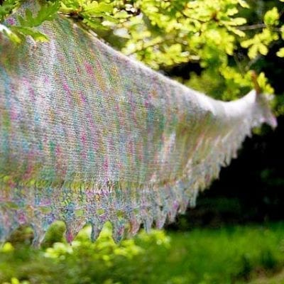 Showcase Shawl using Angelo Lace