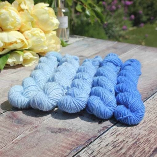 blues_shfades di lusso cashmere in 5 shades of blues