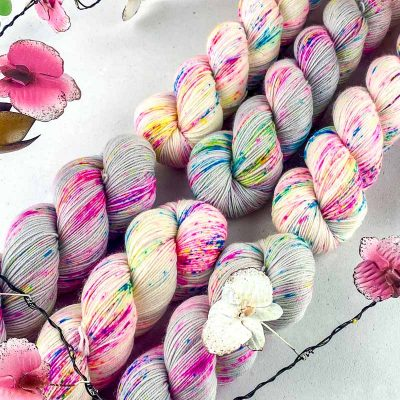 Moonage Daydream 2021 and Any Colour You Like on Platinum Sock 4ply yarn