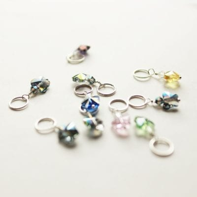 Crystal Butterfly stitch markers