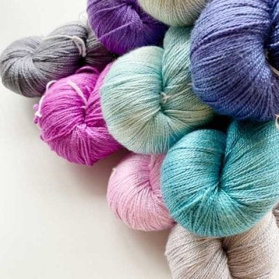 Princessa Sik Lace 2 ply pure silk lace yarn