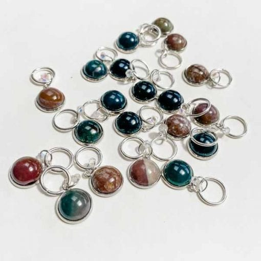 Indian Agate Stitch Markers